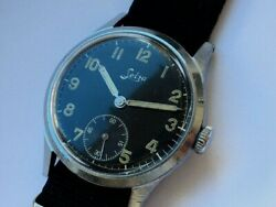 Ultra Rare German Military Watch Selza D, Military Order Of The Luftwaffe, Switz