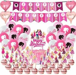 Girls Theme Birthday Party Favors For Girl Party Supplies Cake Toppers Balloons