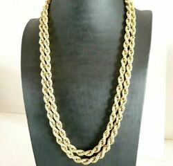 Vintage Necklace Long Jersey Torchon Made In Italy Years' 60 In Gold Solid 9k