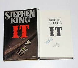 Stephen King Signed And039itand039 1st/1st First Edition Printing Book Novel W/coa Later