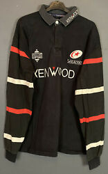 Vintage Old Long Sleeve Mens Rugby Union Saracens 1996/1999 Shirt Jersey Size Xl