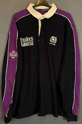 Menand039s Long Sleeve Rugby Union Scotland 1999/2000 Home Shirt Jersey Size 2xl Xxl