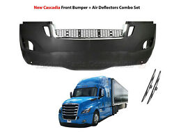 Freightliner Cascadia 2018-2020 Complete Bumper With Chrome And Fog Lamp Hole