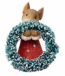 Heart Of Christmas Mice By Karen Hahn - Mouse With Wreath