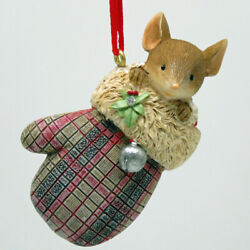 Heart Of Christmas Mice By Karen Hahn - A Cozy Mitten - Mouse In Mitten Ornament