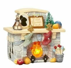 Heart Of Christmas Mice By Karen Hahn - Mouse - Lighted Fireplace