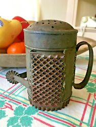 Unusual Victorian 1800s Tin Tool 6 Tools In 1 - Shaker, Cutter, Crimper, Grater