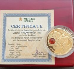 Amber Route 5 Dollars Gold Collector Coin