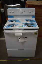 Hotpoint Rbs160dmww 30 White Freestanding Electric Range Nob 108367