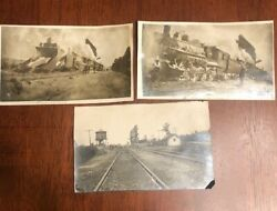 Vintage Train Snow Plow 1920s Real Photo Lot Old Pictures