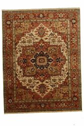Genuine 9and0391 X 11and03910 Indo Serapi | Antique Collection Area Rug Carpet