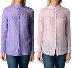 New Fred Perry Womens Silk Blouse Shirt |andnbsp100 Silk | Made In Italy