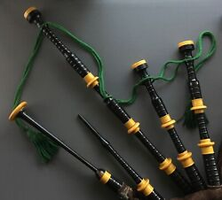 Vintage Bagpipes Made By W. Sinclair And Son Leith Scotland