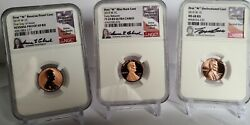 3-coin Set 2019-w Complete West Point Lincoln Cent Ngc-pf69r-rpf69cam-ms-68rd
