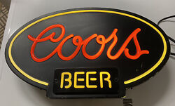1983 Vintage Coors Beer Lighted Wall Sign
