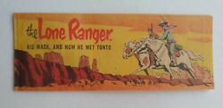 The Lone Ranger His Mask And How He Met Tonto 1954 Cheerios Giveaway Comic Book