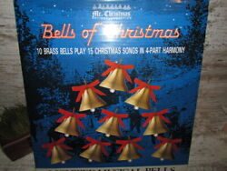 Mr Christmas Bells Of Christmas Musical Lighted Brass Vintage 15 Songs 1990
