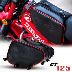 Red Black Center Luggage Bag Pouch Rack Fit Honda Ct125 Hunter Trail 2020-21