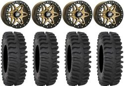 Sedona Split 6 Bdlk 14 Wheels Br +30mm 28 Xt400 Tires Sportsman 550 850 1000