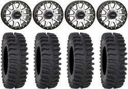 System 3 Sb-3 Machined 14 Wheels 32 Xt400 Tires Can-am Renegade Outlander