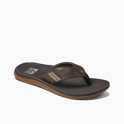 Reef Menand039s Santa Ana Synthetic Flip Flops - Brown Nwt