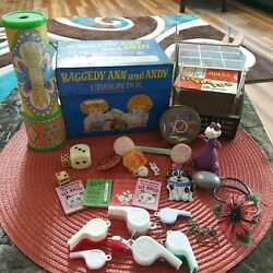 Mixed Lot Of Vintage Collectible Children's Toys Whistles, Game, Kaleidoscope