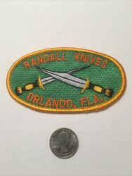 Randall Knife Patch Vintage Factory  4 1/2 X 2 5/8 Brand New