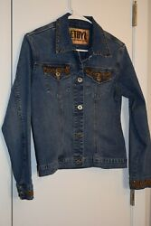 Ladies Jean Jacket Size Small Ethyl Embellishments Embroidered And Studs