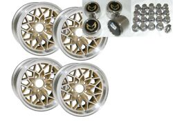 Trans Am 17x9 Inch Gold Snowflake Wheel Kit W/lug Nuts And Stainless Center Caps