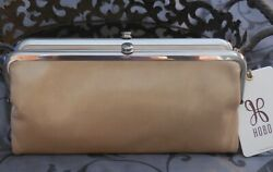 Hobo International LAUREN Leather DOUBLE FRAME Clutch Wallet TAN NWT $138 $84.95
