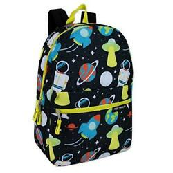 Boys 17 Inch Backpacks for School Lightweight Printed Bookbags Spaced Out $13.66