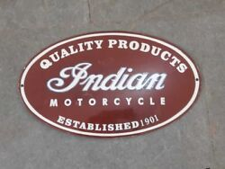 Porcelain Indian Motorcycle 12 X 8 Inches Enamel Signs Lot Of 5