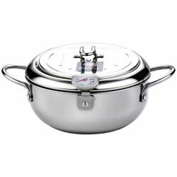 Temperature Control Tempura Fryer Pan Fried Cooking Pots Tools Japanese Style