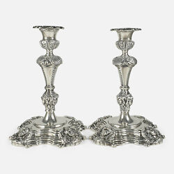 Pair Of Irish Sterling Silver Candlesticks 1969