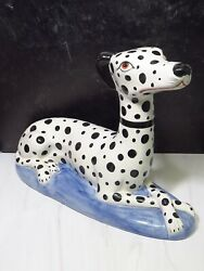 Xl 20 Staffordshire Style Dalmatian Spotted Dog Made In Italy Ceramic
