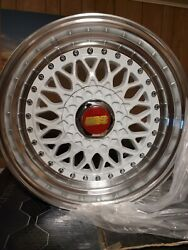 16 Inch Bbs Style Wheels Rims Fitment 16x7.5 +15mm Offset 4x100/4x114.3 White