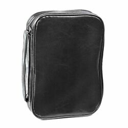 11.75 Black Pu Leather Bible Cover Case Bag With Handle, Maxi 2x-large