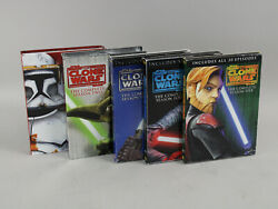 Star Wars The Clone Wars Complete Season 1, 2, 3, 4 And 5 Dvd Sets Ex Condition