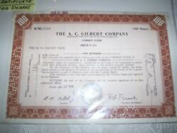 American Flyer The A. C. Gilbert Company 100 Shares Of Stock