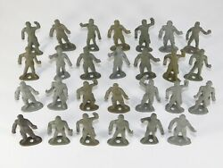 Lot Of 27 Vtg Mpc Early Ring Hand Wwii Us Army Gi Soldiers Green Plastic Toy Set