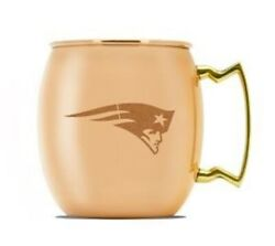 New England Patriots Copper Moscow Mule Mug 16oz Free Shipping