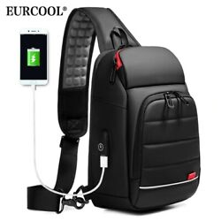 PHANTOM SMART SHOULDER BAG FOR MEN USB Charging Port Sports Crossbody Handbag $36.99