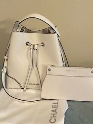 NWT MICHAEL MICHAEL KORS MERCER GALLERY CONVERTIBLE BUCKET LEATHER SHOULDER BAG $180.00