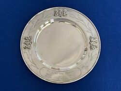 A Vintage Solid Silver Mappin And Webb Three Wise Monkeys Plate - Sheffield 1938