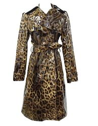 Dolce And Gabbana Vinyl Trench