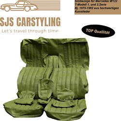 Seat Covers For Mercedes W123 T Model Estate 1/2 Series Grün 250 240 230 200usw