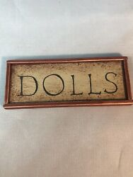Dollhouse Miniature 112 Scale Doll Sign Toy Store Sign Signed On Back