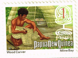 Papua New Guinea Culture Ethnicities Wood Carver Stamp 1978 Mlh Oceania
