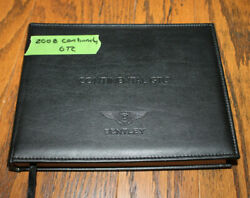 2008 Bentley Continental Gtc Owners Manual With Leather Cover Navigation Section