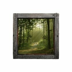 The Road Less Taken - Rustic Windowscape Series Wall Decal - Peel And Stick